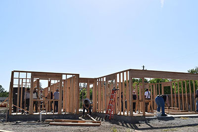 Families building homes an Benson Estates in Orland  (photo credit, Glenn County Transcript)