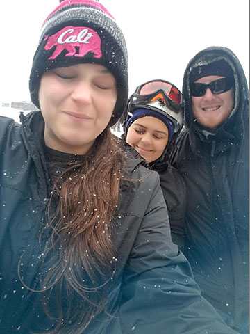The Powers Family in the Snow
