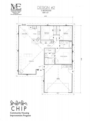 3 -bedroom floor plan