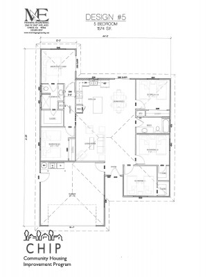 5-bedroom floor plan